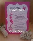 Cherry Blossom Wedding - Menu Cutting File