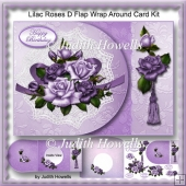 Lilac Roses D Flap Wrap Around Card Kit