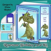 Roarsome Birthday Asymmetric Card Kit