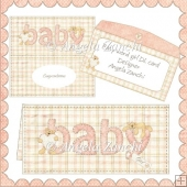 BABY WORD DL GIRL CARD