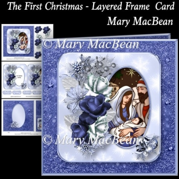 The First Christmas - Layered Frame Card