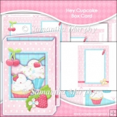 Hey Cupcake Box Card