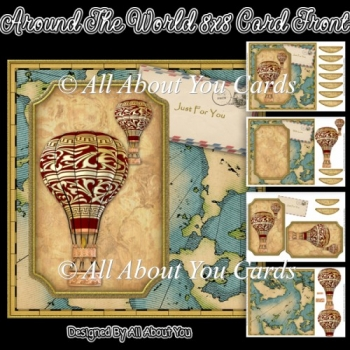 Around The World 8x8 Card Front