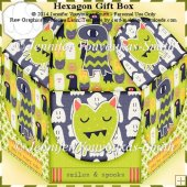 Hexagon Gift Box-Halloween Ghosts 1