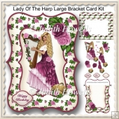 Lady Of The Harp Large Bracket Card Kit