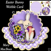 Easter Bunny Wobble Card