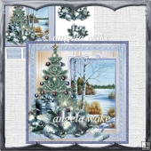 Peace at Christmas card with decoupage