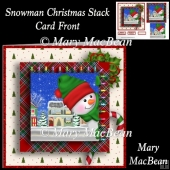 Snowman Christmas Stack Card Front