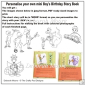 Personalised Mini Boys Birthday Story Book