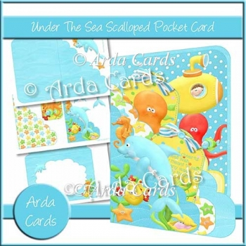 Under The Sea Scalloped Pocket Card