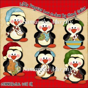 chocolate chip cookies clipart. Little Penguins Love Cookies