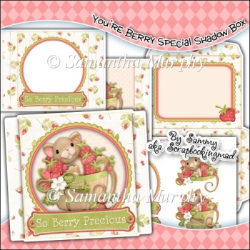 You're Berry Special Shadow Box Card & Envelope