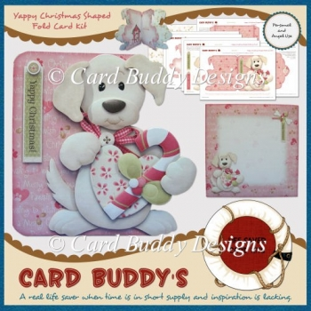 Yappy Christmas Shaped Fold Card Kit