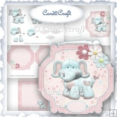 Baby Elephant card set