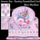 Summer Posy - Teardrop Pyramid Easel Card