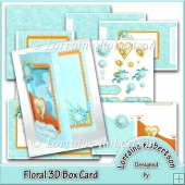 Floral 3D Box Card ~ Decoupage