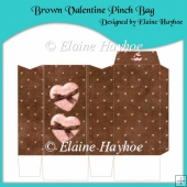 Brown Valentine Pinch Bag