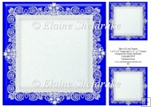 "Blue (1) Lace Frames - One 8"" x 8"" and Two 3"" x 3"""