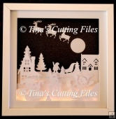 Snowmen and Santa Christmas - Multi layered for Shadow Boxes