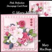 Pink Perfection Decoupage Card Front