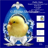 Fluffy Chick Easter Egg Shaped Card Kit