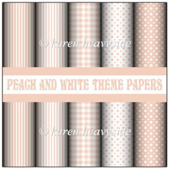 Peach And White Theme Papers