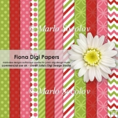 Fiona Digital Paper Pack {A4 Size}