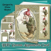 DIY Gnome Asymmetric Birthday Card Kit