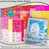 Leaf Flourish Design Sheets (Brights)