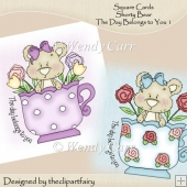 Square Cards Shorty BearThe Day Belongs toYou 1(Retiring in July