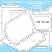 Frame Easel Card & Envelope Template Commercial Use OK