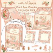 Peach Rose Rounded Envy Style Card
