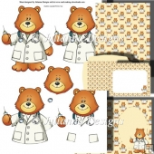Doctor Teddy Decoupage Set