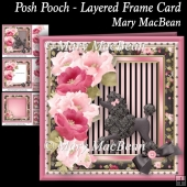 Posh Pooch - Layered Frame Card