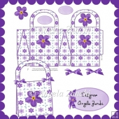 Pretty Purple Gift Bag With Tags