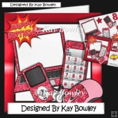 Red Glitter Laptop, mobile & MP3 Player 8x8 mini kit