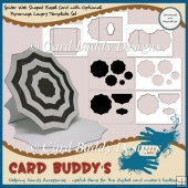 Spider Web Shaped Easel Card & Pyramage Layers Template Set