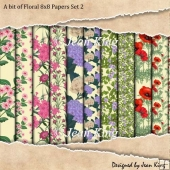 A bit of Floral 8x8 Papers Set 2