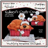 Paws for Thought Shaped Card - Turkey Dreams