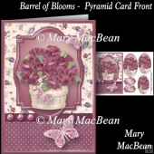 Barrel of Blooms Pyramid Card Front