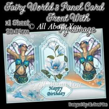 Fairy World 3 Panel Card Front