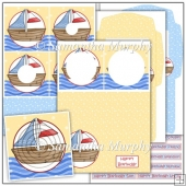 Happy Birthday Sail Boat PDF Inverted Pyramage Download