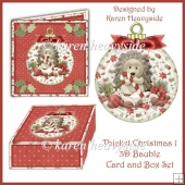 Thicket Christmas 1 3D Bauble Card and Box Set