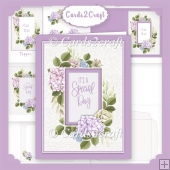 Rhododendron window card set