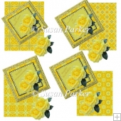 Beautiful Yellow Rose Card Front