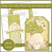 Thank Ewe Very Much Pop Out Banner Card