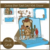 Cowboy Bear Easel Card With Drawer