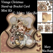 Vintage Christmas - Stand-up Bracket Card Mini Kit