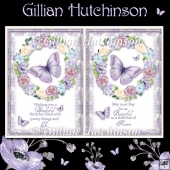 2 Floral Birthday Card Fronts
