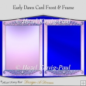 Early Dawn Card Front & Frame